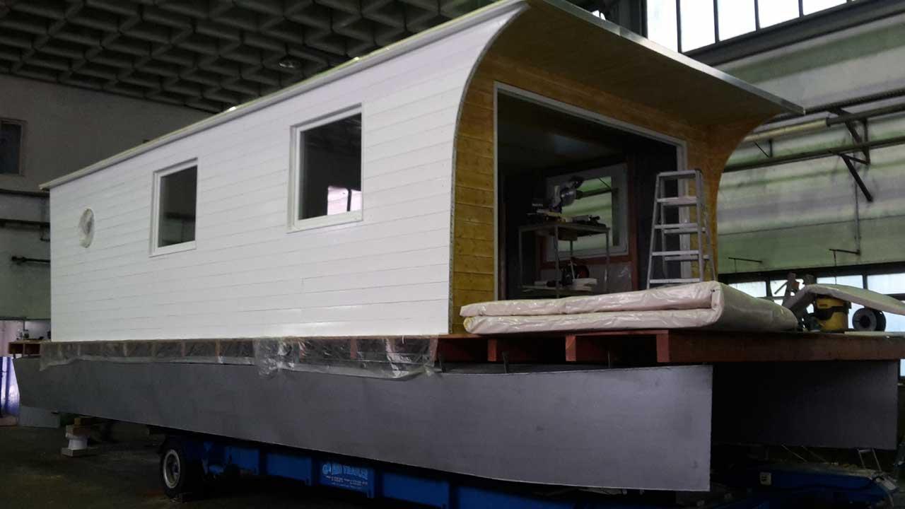 Hausbootbau - Ausbaustufe
